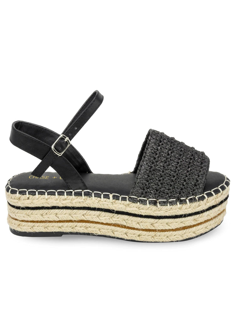 """SUMMERTIME STROLL"" - WOMEN'S PLATFORM ESPADRILLE SANDALS - Lala Shoes"