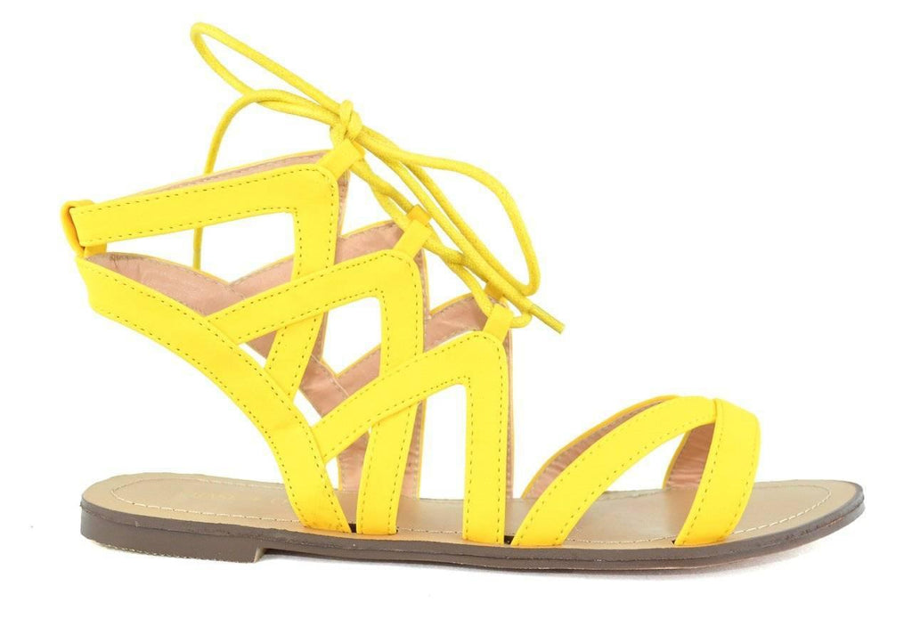 """BEAUTIFUL FOR HIRE"" - FLAT SANDALS - Lala Shoes"
