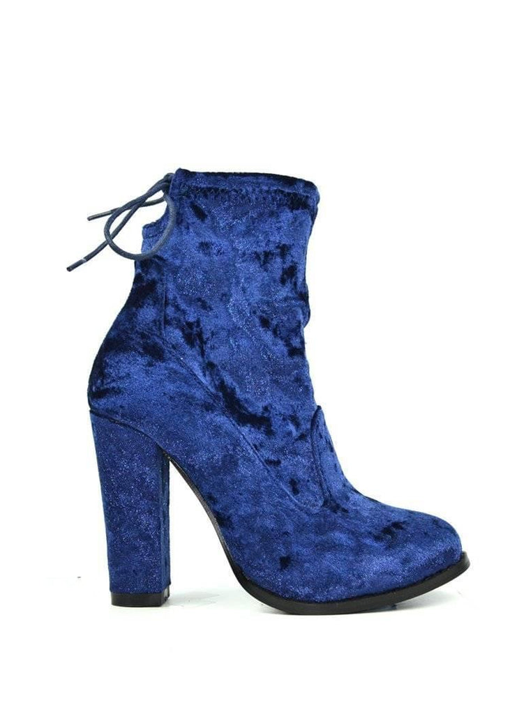 """IT'S GOOD TO TALK VELVET"" - VELVET BOOTIE - Lala Shoes"