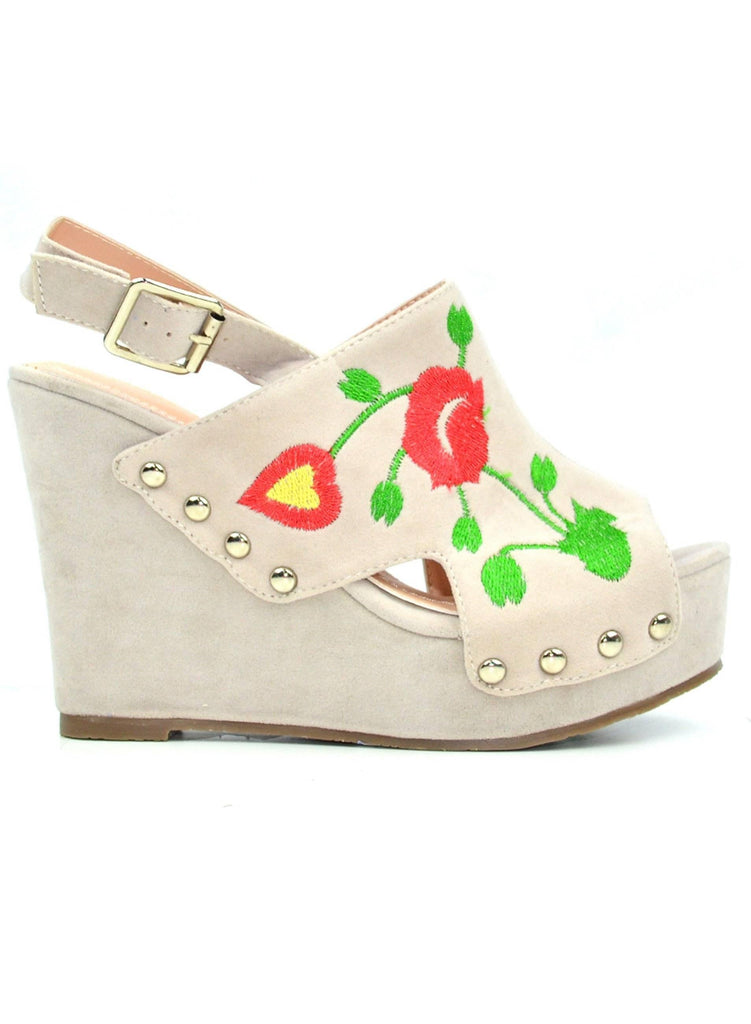 """THE FREE STYLE SPIRIT"" - WEDGE SANDAL - Lala Shoes"