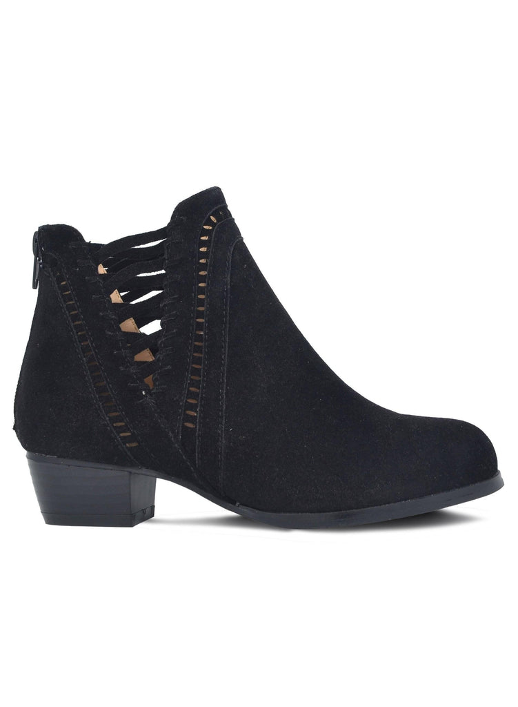 """VENTURE ON""-CUT OUT BOOTIE - Lala Shoes"