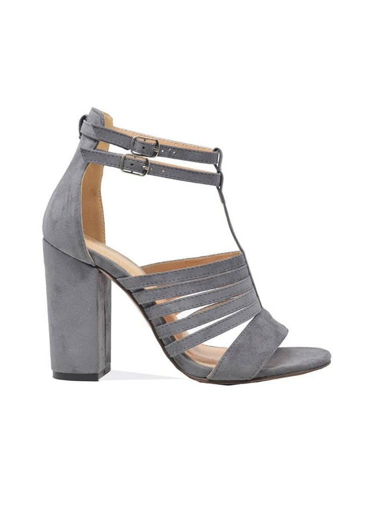 """ULTIMATE GOALS"" NATURAL SUEDE BLOCK HEELS - Lala Shoes"