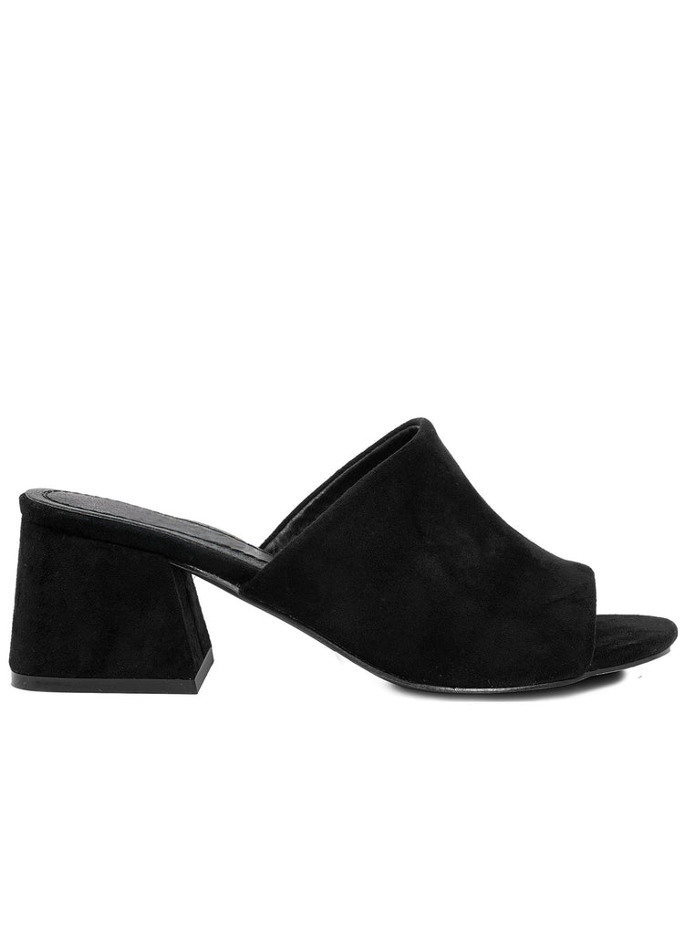 """SYDNEY"" SUEDE LOW BLOCK HEELS - Lala Shoes"