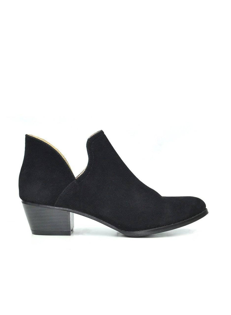 """BOOTIE MAKES YOU SEXY"" - BLACK SLIP ON BOOTIE - Lala Shoes"