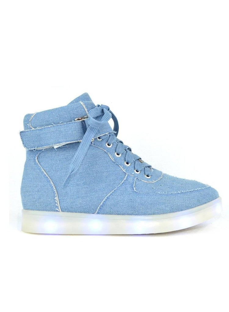 """TWINKLE, TWINKLE"" LED HI-TOP SNEAKERS - Lala Shoes"