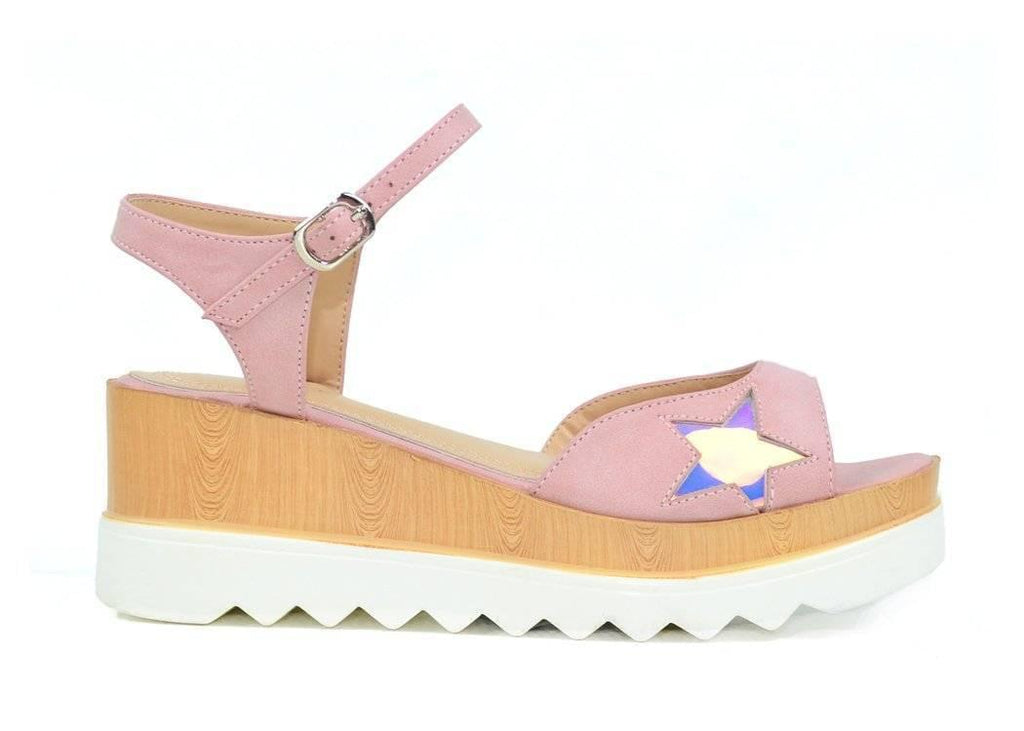 """CHILLING UNDER STARS"" -WEDGE SANDAL - Lala Shoes"