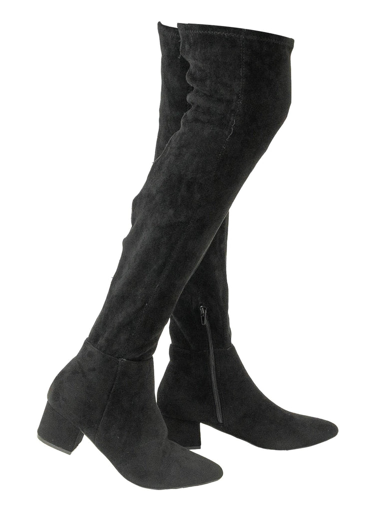 """LEYLAR HARMON""- LOW CHUNKY HEEL OTK BOOT - Lala Shoes"