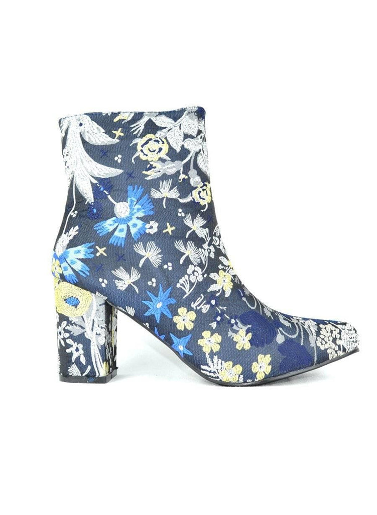 """FLORAL SHOWS GOOD TASTE"" - FLORAL BOOTIE - Lala Shoes"