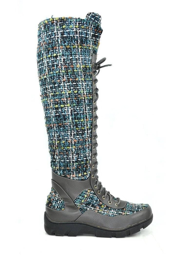 """HIGH TOP RIGHT AS RAIN"" - WOMEN'S BOOT - Lala Shoes"