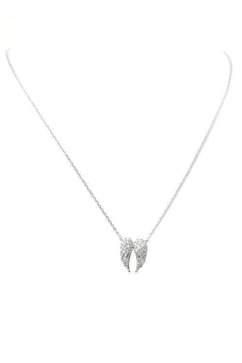 """MAKE ROOM FOR THE ANGEL""-SILVER PENDANT NECKLACE"