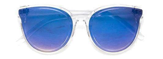 """SHADY GROOVE""-REFLECTIVE BLUE SUNGLASSES"