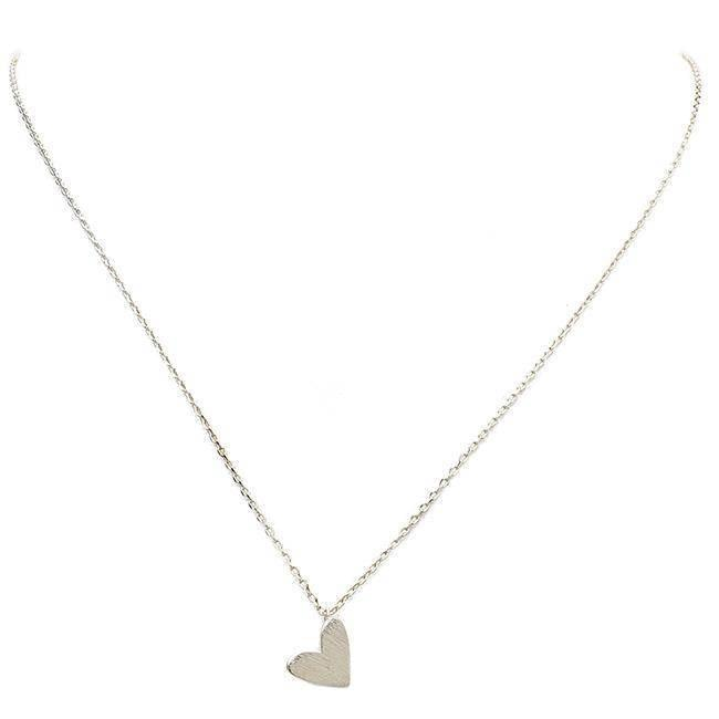 """MELT YOUR HEART AWAY""-SILVER NECKLACE - Lala Shoes"