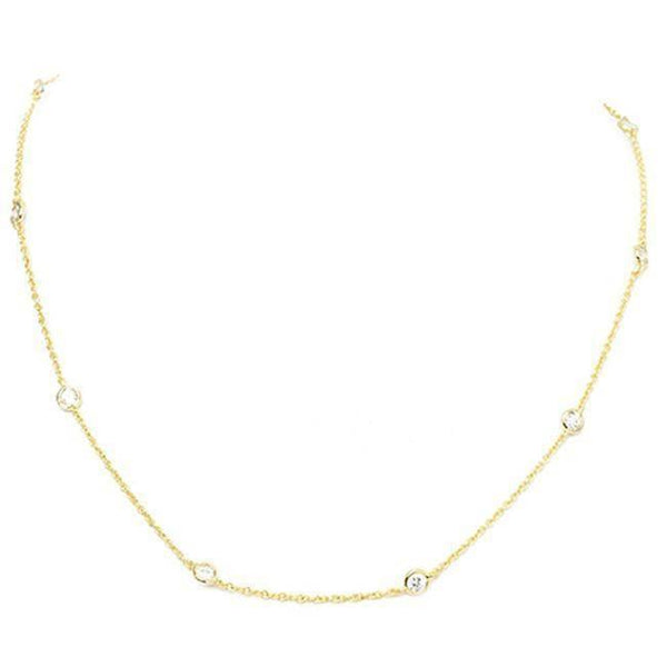 """OH, SO DAINTY!""-GOLD NECKLACE"
