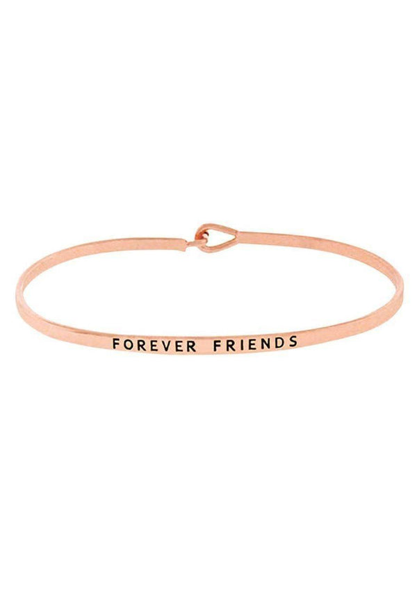"""FOREVER FRIENDS""-ROSE GOLD BANGLE"
