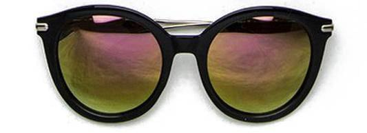 """SEE LIFE COLORED""-REFLECTIVE ROUND LAVENDER LIME SUNGLASSES - Lala Shoes"