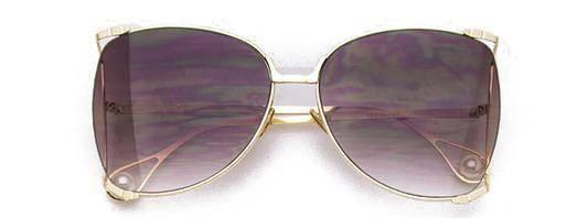 """PURE EYE POWER""-LAVENDER RECTANGULAR SUNGLASSES - Lala Shoes"