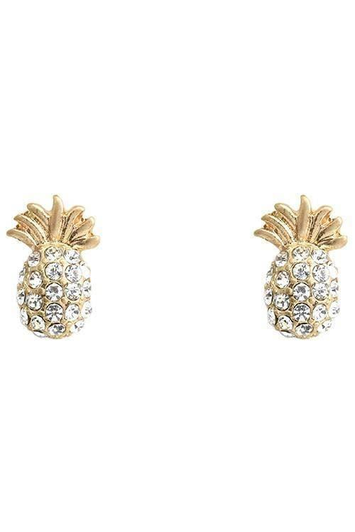 """I CAN'T BELIEVE IT'S PINEAPPLE""-GOLD EARRINGS"