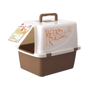 PETKU - Plastic Flower Cat Litter Box