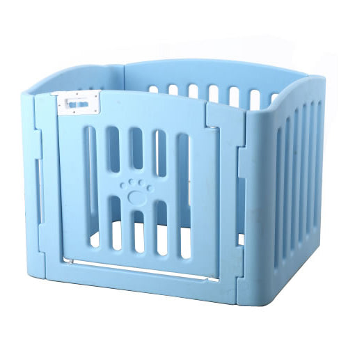 PETKU - Plastic Pet Playpen 4 Panels with Locks