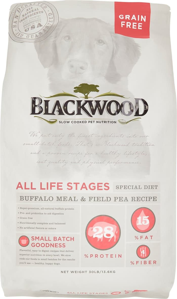 Blackwood - Grain Free Dog Food Buffalo Meal and Field Pea Recipe