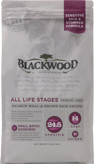 Blackwood - Sensitive Skin and Stomach Dog Food Salmon Meal and Brown Rice Recipe