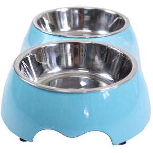 PETKU - Double Pet Bowl Stainless Steel