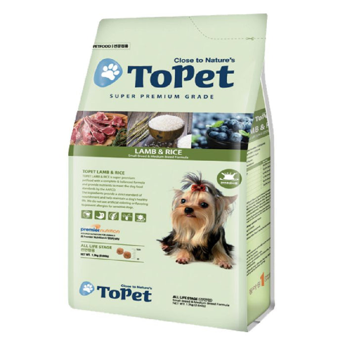 Topet - Lamb & Rice Dry Food for Dogs
