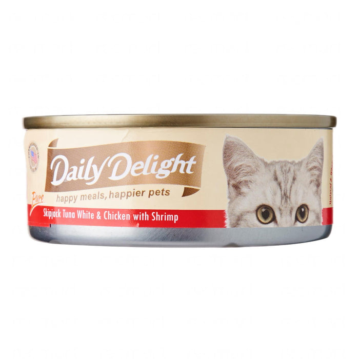 Daily Delight - Pure Skipjack Tuna White and Chicken with Shrimp