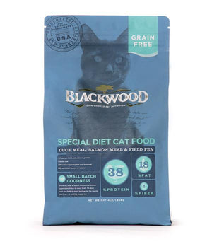Blackwood - Grain Free Cat Food Duck Meal, Salmon Meal, and Field Pea Recipe