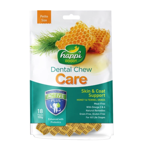 Happi Doggy - Dental Chew Care Skin & Coat Support