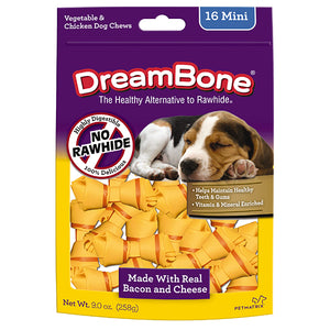 DreamBone - Bacon and Cheese Classic Bone Chew Mini