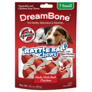 DreamBones - Chicken RattleBall Chews