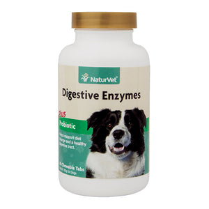 NaturVet - Digestive Enzymes Plus Probiotics Chew-able Tablets