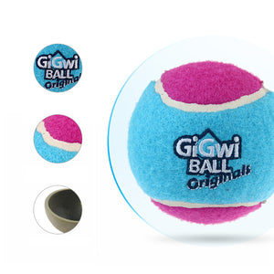 GiGwi Mainan Anjing - Tennis Ball 3 Pcs With Diffrent Colour Medium