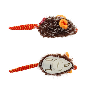 GiGwi Mainan Kucing- Pet Droid Ineractive Mouse Orange & Brown