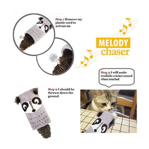 GiGwi Mainan Kucing - Melody Chaser Coon With Sound Chip