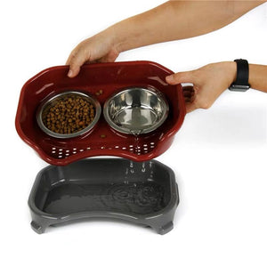 PETKU - Elevated Dual Feeding Bowl