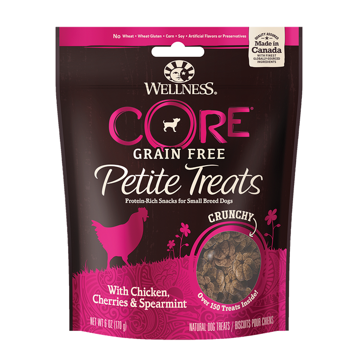 Wellness - Core Petite Treats Chicken, Cherries, and Spearmint Crunchy Mini-Bites