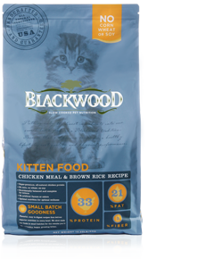 Blackwood - Kitten Food Chicken Meal and Brown Rice Recipe