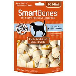 SmartBones - Sweet Potato Classic Chew Bone Mini