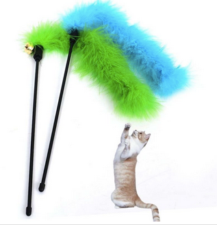 PETKU - Cat Teaser Feathers Toy
