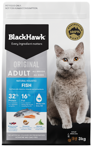 BLACKHAWK - Original Fish Adult Cat Dry Food