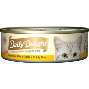 Daily Delight - Pure Skipjack Tuna White and Chicken with Baby Clam