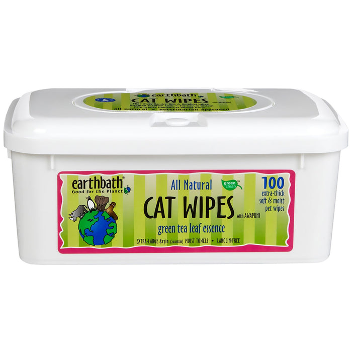 Earthbath - Green Tea Cat Wipes