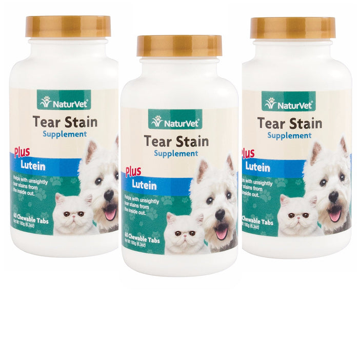 NaturVet - Tear Stain Supplement Tablets Plus Lutein