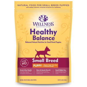 Wellness - Healthy Balance Small Breed Puppy Chicken Meal, Pork Meal, & Oatmeal Recipe