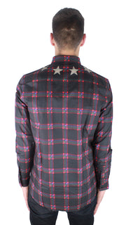 Givenchy 15W6425846 Brown Check Casual Shirt