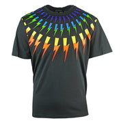 Neil Barrett Multicolour Lightning Bolt Black Oversize Tee