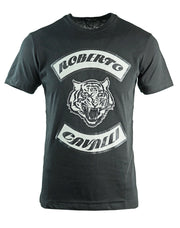 Roberto Cavalli Tiger Head Black T-Shirt
