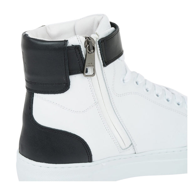 Neil Barrett Thunderbolt Basket High-Top Sneakers
